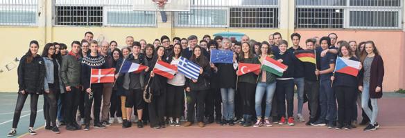 Teilnehmer am Erasmustreffen in Athen
