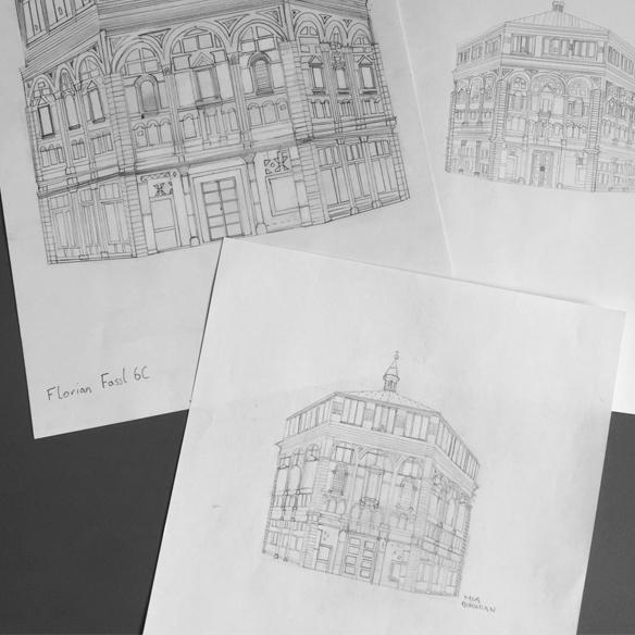Zeichnungen Gebäude