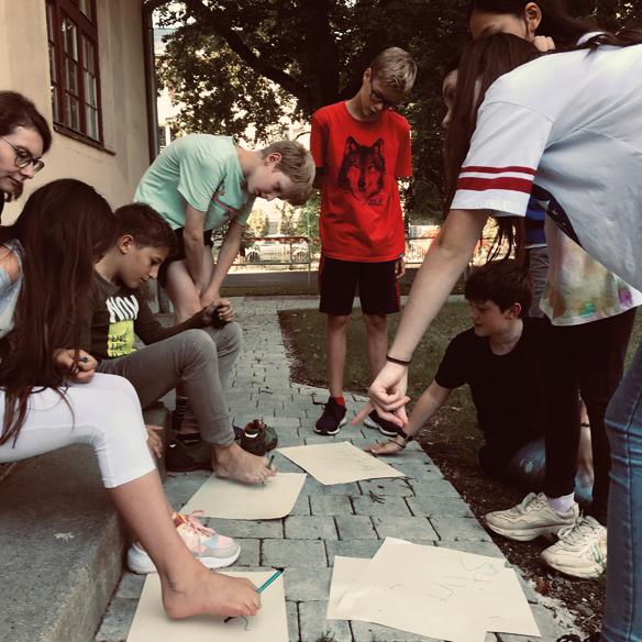 Spiele im Sommercamp