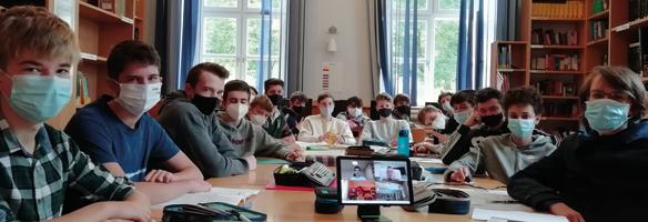 Klasse 5d per Videokonferenz